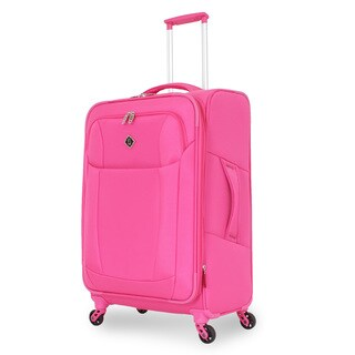 French West Indies Fuchsia 24.5-inch Lightweight Spinner Upright Suitcase
