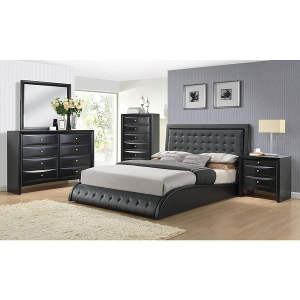 Tirrel Black Upholstered Bed