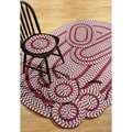 Crescent Braided Burgundy Indoor/ Outdoor 7-piece Rug Set by Better Trends
