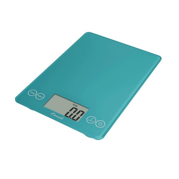 Glass Digital Food Scale, Peacock Blue