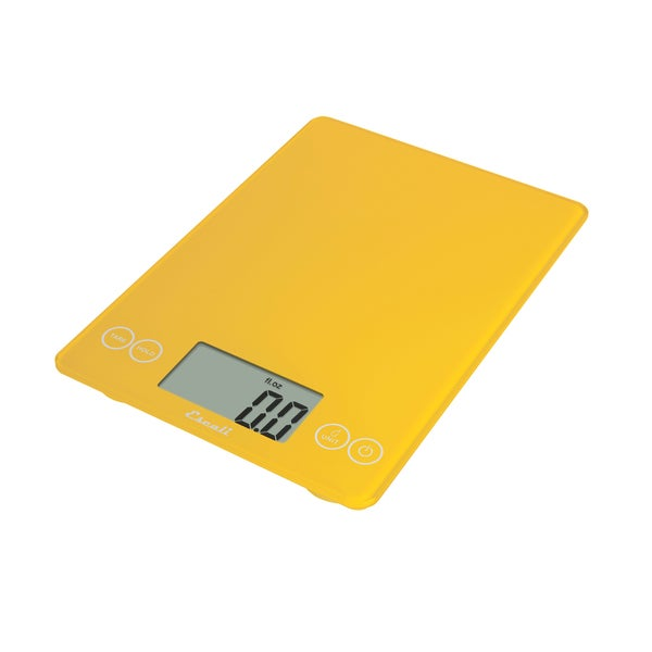 Glass Digital Food Scale, Yellow