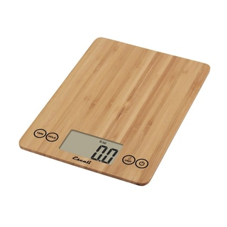 Glass Digital Food Scale, Bamboo