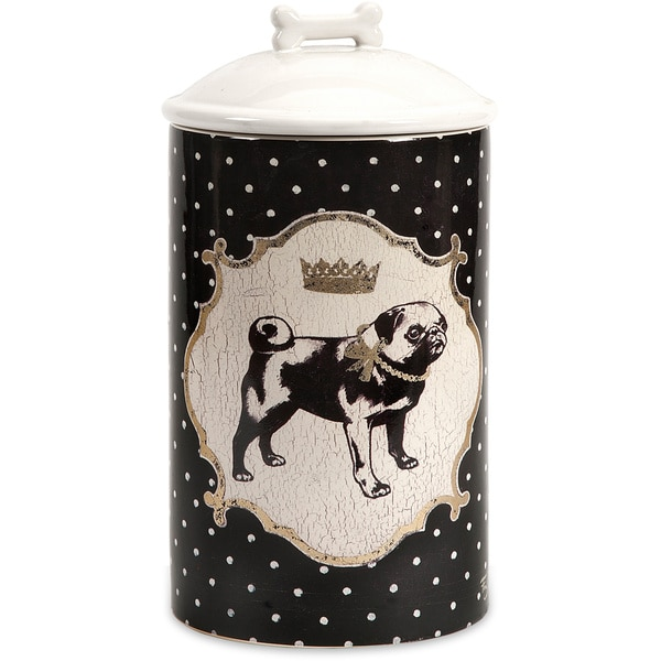 Medium Dog Ceramic Canister