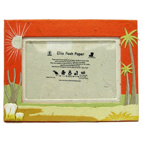 Orange Poo Paper Elephant Themed Photo Frame