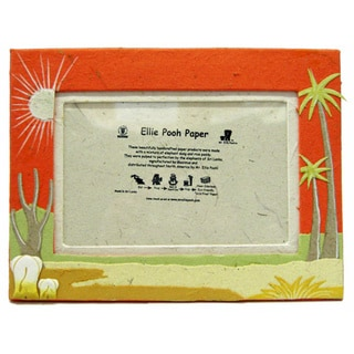 Orange Poo Paper Elephant Themed Photo Frame