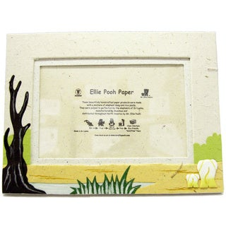 Natural White Poo Paper Elephant Themed Photo Frame