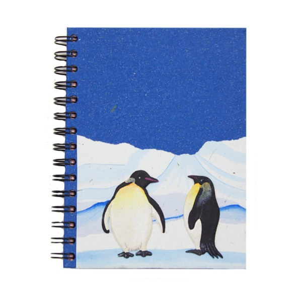 Handmade Dung Paper Dark Blue Penguin Journal