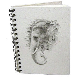 Handmade Dung Paper Profile Sketch Journal (Sri Lanka)