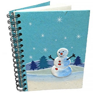 Handmade Dung Paper Curry The Snowman Journal