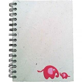 Handmade Baby Pink Elephant Dung Paper Journal (Sri Lanka)
