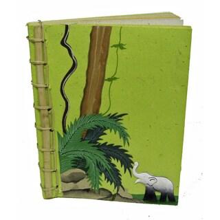 Bamboo Spined Poo Paper Light Green Book (Sri Lanka)