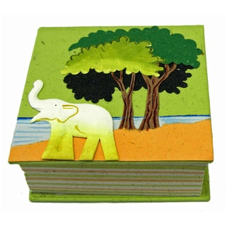 Earth Friendly Light Green Poo Note Pad (Sri Lanka)
