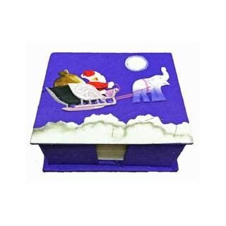 Mr. Ellie Pooh Santa Themed Dung Paper Note Box (Sri Lanka)
