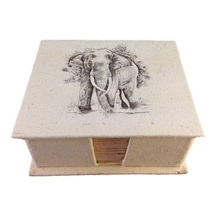 Mr. Ellie Pooh Tusker Sketch Theme Dung Paper Note Box (Sri Lanka)