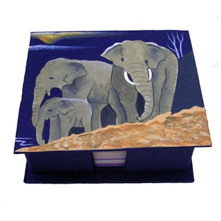 Mr. Ellie Pooh Dark Blue Themed Poo Paper Note Box (Sri Lanka)