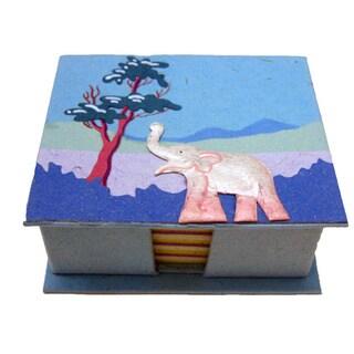 Mr. Ellie Pooh Robin's Egg Blue Poo Paper Note Box (Sri Lanka)