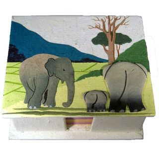 Mr. Ellie Pooh Natural White Poo Paper Note Box (Sri Lanka)