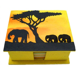 Mr. Ellie Pooh Yellow Themed Poo Paper Note Box (Sri Lanka)