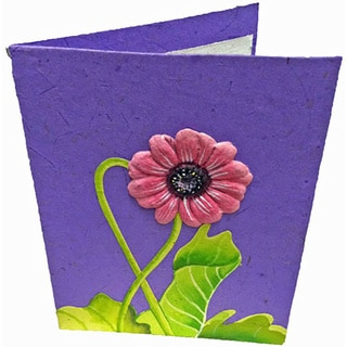 Mr. Ellie Pooh Handmade Light Purple Poo Paper Card (Sri Lanka)