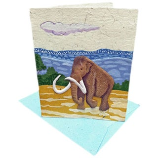 Handmade Designer Mammoth Poo Paper Card