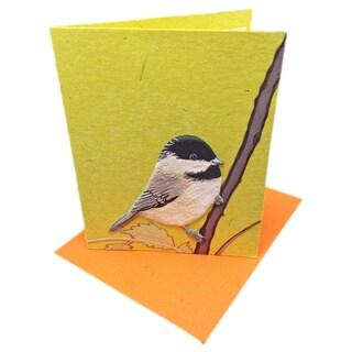 Mr. Ellie Pooh Handmade Designer Chickadee Poo Paper Card (Sri Lanka)