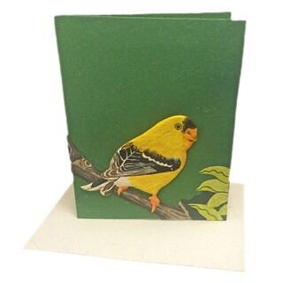 Mr. Ellie Pooh Handmade Designer Goldfinch Poo Paper Card (Sri Lanka)