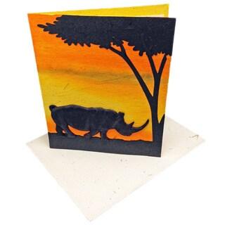 Mr. Ellie Pooh Handmade Designer Rhino Poo Paper Card (Sri Lanka)