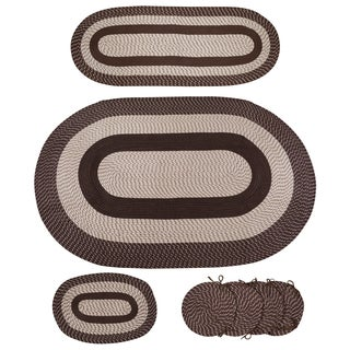 7-piece Braided Rug Set