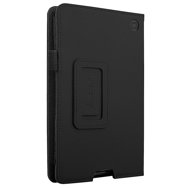 INSTEN Leather Folio Book-Style Flip Tablet Case Cover With Stand For Amazon Kindle Fire HD 6-inch