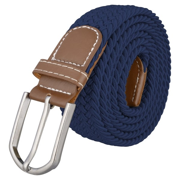 Zodaca Everlasting Wide Navy Blue Elastic Stretch Golf Belt