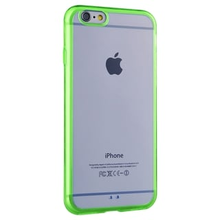INSTEN Green/ Clear TPU Gummy Bumper Frame Phone Case Cover For Apple iPhone 6 Plus 5.5-inch