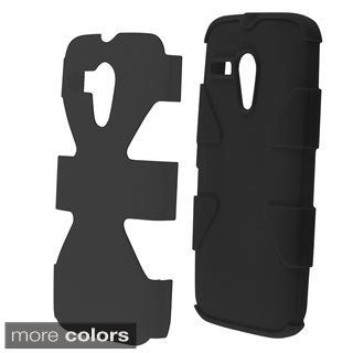 INSTEN Dynamic Dual Layer Hybrid Rubberized Hard PC Silicone Phone Case Cover For Motorola Moto G