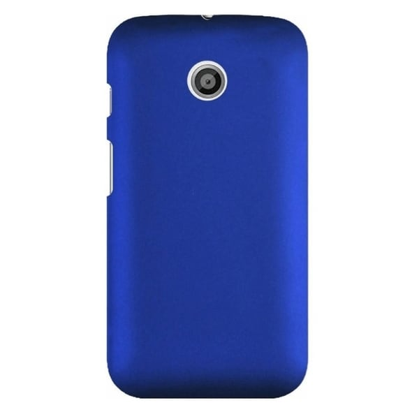 INSTEN Premium Plain Color Rubberized Hard Snap-on Phone Case Cover Protector For Motorola Moto E