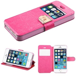 INSTEN Leather Wallet Folio Book-Style Flip Phone Case Cover With Stand For Apple iPhone 5/ 5S