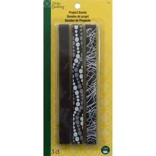 Dritz Quilting Project Bands 3/Pkg-Black