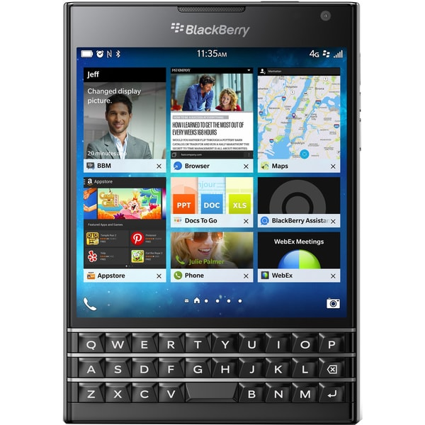 Blackberry Passport SQW100-1 Unlocked GSM Phone w/ 3-row keyboard - Black
