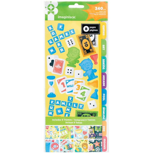 Family Fun Sticker Book 8 Pages