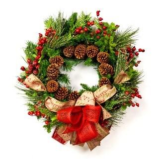 Rustic Pine Christmas Wreath