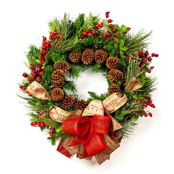 Rustic Pine Christmas Wreath