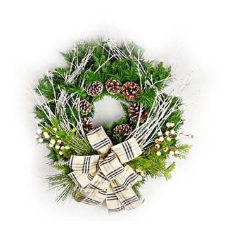 White Birch and Pine Wreath