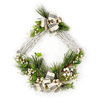 White Birch and Berry Wreath