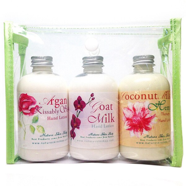 Argan Kissably Soft, Goat Milk and Coconut Hemp Hand Lotion Gift Set