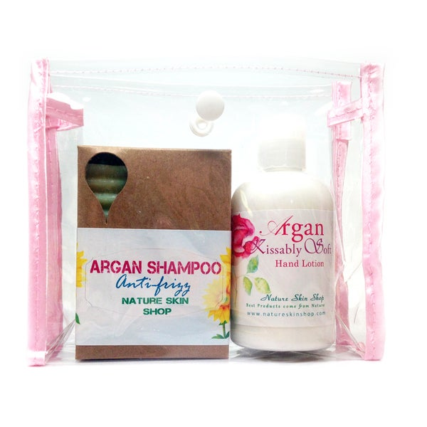 Argan Kissably Soft Hand Lotion And Argan Shampoo Gift Set