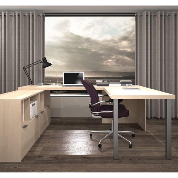 I3 By Bestar U Shaped Desk 16843692 Overstock Com