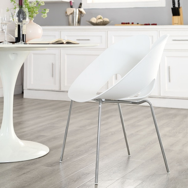 Envelope White Dining Armchair