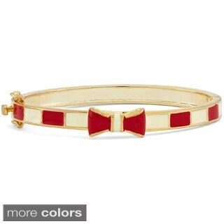 Gioelli Design Junior Jewels Enamel Bow Ribbon Bangle