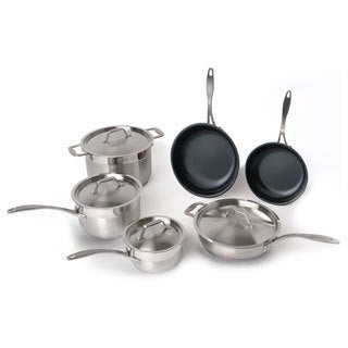 BergHoff Hotel Line Earthchef 10-piece Stainless Steel Cookware Set