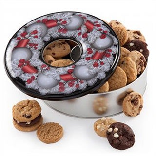 Mrs. Fields Holiday Wreath Cookie Tin