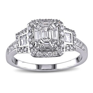 18k White Gold 7/8ct TDW Diamond Ring (G-H, SI1-SI2)