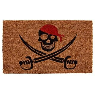 Pirate Coir with Vinyl Backing Doormat (1'5 x 2'5)